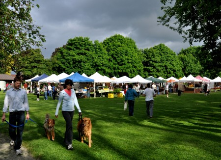 Seattle's more beautiful setting for a farmers market! Copyright by Zachary D. Lyons.