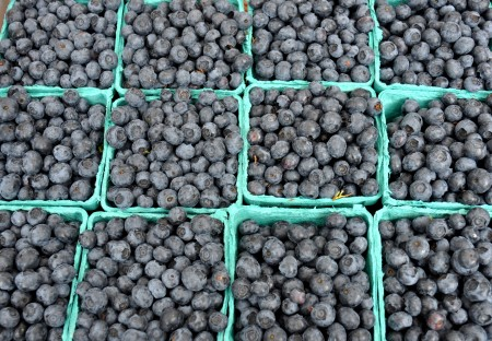 Blueberries from Sidhu Farms. Photo copyright 2013 by Zachary D. Lyons.
