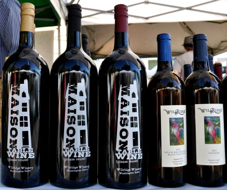 Reusable wine bottles from Wilridge Winery. Photo copyright 2013 by Zachary D. Lyons.