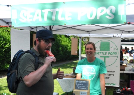A hot day cools for Seattle Pops!. Photo copyright 2014 by Zachary D. Lyons.