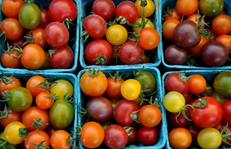 Cherry tomatoes from Around The Table Farm. Photo copyright 2014 by Zachary D. Lyons.