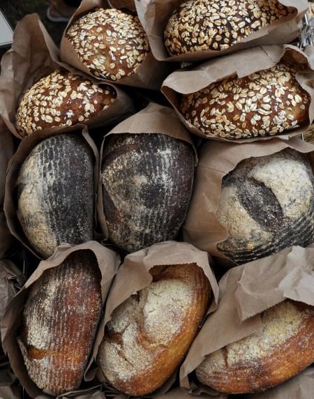 Artisan breads from Tall Grass Bakery at Wallingford Farmers Market. Copyright Zachary D. Lyons.