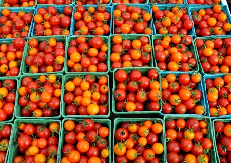 Cherry tomatoes from Gaia's Harmony Farm at Wallingford Farmers Market. Copyright Zachary D. Lyons.