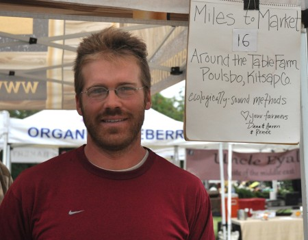 Aaron from Around The Table Farm at Wallingford Farmers Market. Copyright Zachary D. Lyons.