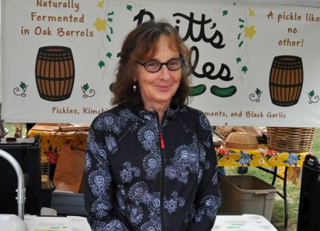 Adele from Britt's Pickles at Wallingford Farmers Market. Copyright Zachary D. Lyons.