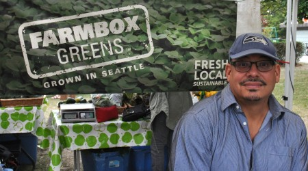 Michael from Farmbox Greens at Wallingford Farmers Market. Copyright Zachary D. Lyons.