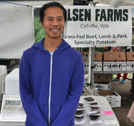 Dae from Olsen Farms at Wallingford Farmers Market. Copyright Zachary D. Lyons.