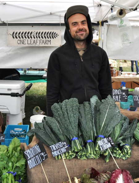 Paul from One Leaf Farm at Wallingford Farmers Market. Copyright Zachary D. Lyons.