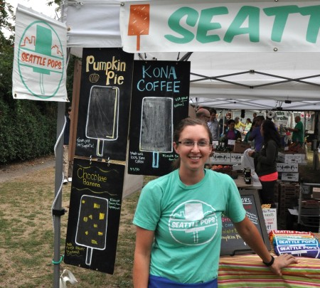 Megan from Seattle Pops at Wallingford Farmers Market. Copyright Zachary D. Lyons.